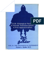 Stoller Ch18 - The Transsexual Experiment - Chapter 18 Etiological Factors in Female Transsexualism