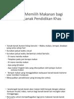 Strategi Memilih Makanan Bagi Kanak-kanak Pendidikan Khas ( Tutorial PKBK )