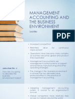 Management Accounting and the Business Environment