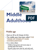 Middle Adulthood Psychology Report