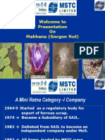 PPT on Makhana