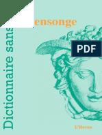 Sommaire_Dictionnaire Du Mensonge