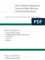 Cryptanalysis of Radio Frequency Identification System Mutual Authentication