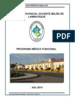 Programa Médico Funcional Hospital Belén 2014