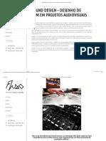 Sound Design – Desenho de Som Em Projetos Audiovisuais