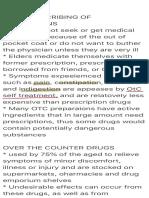 Self Prescribing of Medications