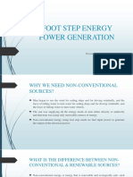 Foot Step Energy Power Generation