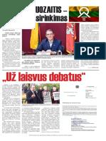 Arvydo Juozaičio LR prezidento rinkimų laikraštis, 2019-05-08