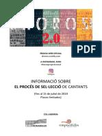 Informació Procés de Selecció Xhoros 2.0