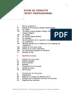 Guide de Conduite de Projet Professionnel