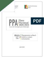 Módulo 1 - Planejamento - Histórico e Instrumentos Atuais