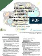 Envejecimiento Normal y Demencias