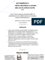 Paulo Freire, Estrategias Argumentativas