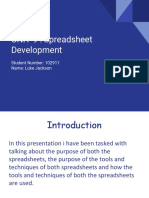unit 9 spreadsheet development assignment 1 - luke jackson