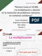 Apunte 1 Propriedad de La Multiplicacion Mayo