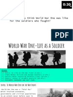 World War One-Life as a Soldier Gallery Walk