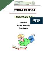 Lectura Critica Primero Ciencias