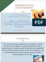 UD I. GENERALIDADES Y CONCEPTOS. T. 1. Evolución Histórica de La Atención Al Mayor ( Antropología Del Cuidado)