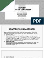 REFERAT Sinusitis Dentogen