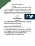 Public Procurement Law 2019