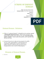 Doctrine of Eminent Domain Ppt
