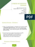Doctrine of Eminent Domain Ppt