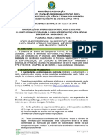 Edital DDE 025 Matemática