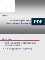 Week11 Relational Algebra & SQL -Aggregation and Grouping Operation