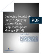 Deploying PeopleSoft Image and Using PUM to Apply Updates