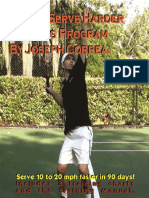 Tennis Serve Harder Training Program Manual by Joseph Correa_ Serve 10 to 20 Mph Faster!