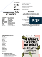play productions - playbill