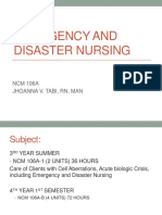 Ppt1.1 Emergency and Disaster Nursing INTRODUCTION