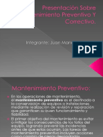 Presentación Sobre Mantenimiento Preventivo Y Correctivo