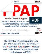 PPAP Supplier Expectations