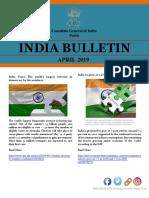 India Bulletin April 2019