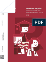 Booklet Beasiswa Reguler Tahun 2019