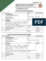 Supva Selection Criteria Amd 1