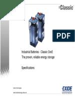 Especificaciones Tecnicas Bateria Classic GROE