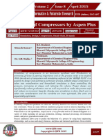 Simulation of Compressor using Aspen Plus