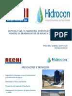 Presentacion Rechi - Hidrocon 2018