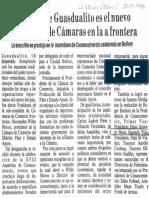 Dirigente de Guasdalito Es El Nuevo Presidente de Camaras en La Frontera - Diario La Nacion 20.04.1988
