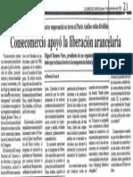 Edgard Romero Nava - Consecomercio Apoyo La Liberacion Arancelaria - El Diario de Caracas 19.11.1987