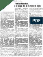 Edgard Romero Nava - El Gobierno Ve Los Efectos No Las Causas en El Alza de Precios de Los Articulos - Diario 2001 10.08.1987