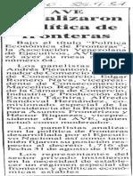 Edgard Romero Nava - Panelista AVE Analisis Politicas de Frontera - El Diario de Caracas 25.09.1987