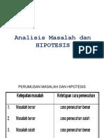 3. Masalah Dan Hipotesis