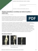 Técnicas Preventivas e Corretivas Nas Lesões Do Joelho