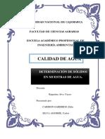 INFORME 3 DETERMINACIÓN DE SÓLIDOS EN MUESTRAS DE AGUA..docx