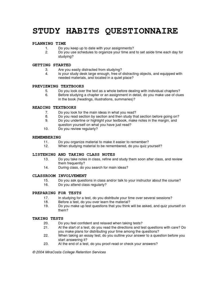 thesis questionnaire about academic performance Chapter-ii review of related literature  questionnaire and measured achievement and  predictors of academic performance.