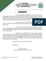 Carta Convite Confaban 2019