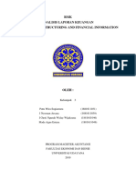 Corporate Restructuring and Financial Information